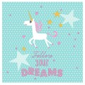 Unicorn 'Follow Your Dreams' Napkins - 20pk - 3ply