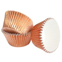 Rose Gold Foil Baking Cases - 50mm x 40mm - 45pk