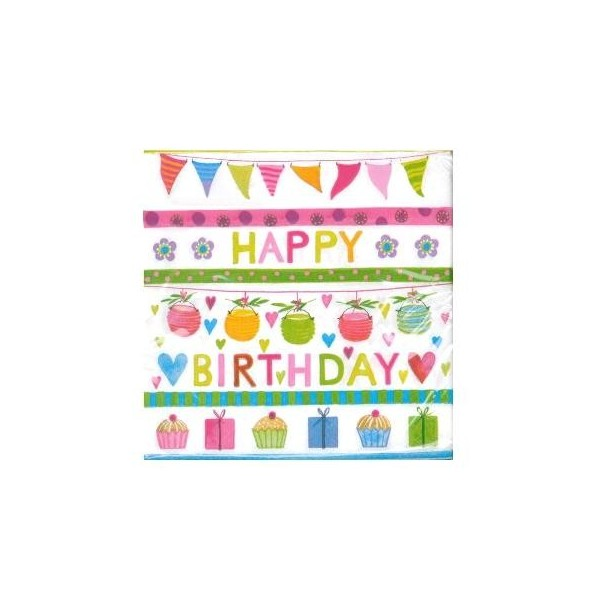 "Special Day ""Happy Birthday"" Napkins - 20pk - 3ply"