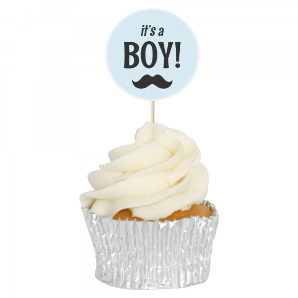 It's A Boy - Baby Shower Cupcake Toppers - 12pk