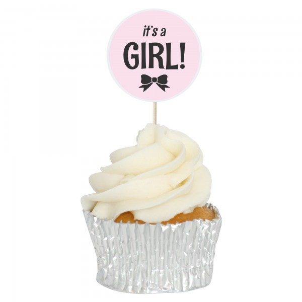 It's A Girl - Baby Shower Cupcake Toppers - 12pk