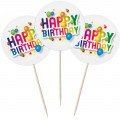 Happy Birthday Cupcake Toppers - 12pk