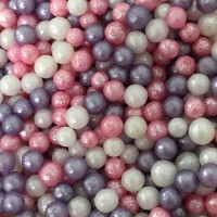 Ice Pink Mix Glimmer Pearl Sprinkles - 80g