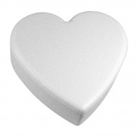 "12"" Heart Chamfered Edge Cake Dummy - 3"" Deep"