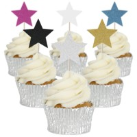 Star Cupcake Toppers - 12pk