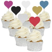 Heart Cupcake Toppers - 12pk