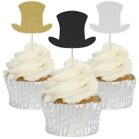 Top Hat Cupcake Toppers - 12pk