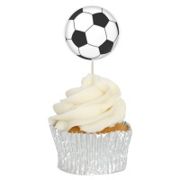 Football Cupcake Toppers - 12pk
