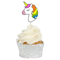 Unicorn Cupcake Toppers - 12pk