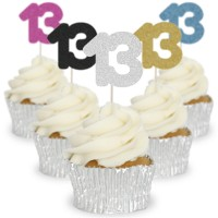 Number 13 Cupcake Toppers - 12pk