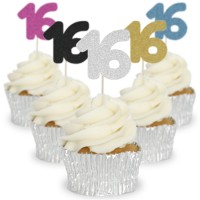 Number 16 Cupcake Toppers - 12pk