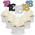 Number 18 Cupcake Toppers - 12pk
