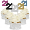 Number 21 Cupcake Toppers - 12pk