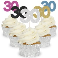 Number 30 Cupcake Toppers - 12pk