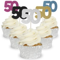 Number 50 Cupcake Toppers - 12pk
