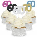 Number 60 Cupcake Toppers - 12pk