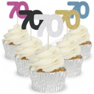Number 70 Cupcake Toppers - 12pk