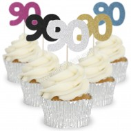 Number 90 Cupcake Toppers - 12pk
