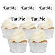 Eat Me Cupcake Toppers - 12pk