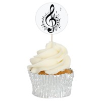 Sheet Music Cupcake Toppers - 12pk