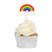 Rainbow Cupcake Toppers - 12pk