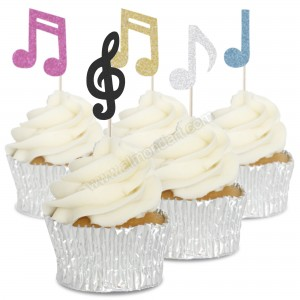 Music Notes Cupcake Toppers - 12pk