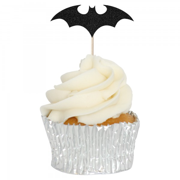 Black Bat Cupcake Toppers - 12pk