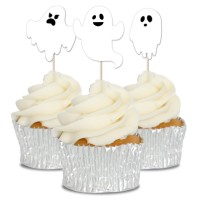 Ghost Cupcake Toppers - 12pk