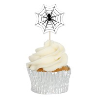 Spider Web Cupcake Toppers - 12pk