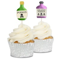 Poison Bottle Cupcake Toppers - 12pk