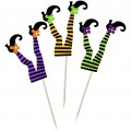 Witch Legs Cupcake Toppers - 12pk