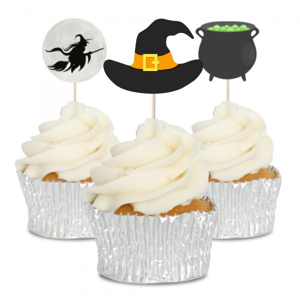 Witch Cupcake Toppers - 12pk