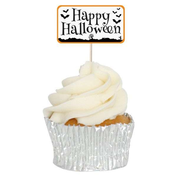 Happy Halloween Cupcake Toppers - 12pk