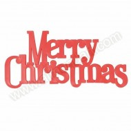 "Large Red "" Merry Christmas"" Motto Topper"