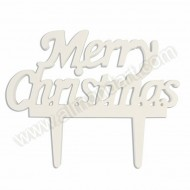 "Gum Paste "" Merry Christmas"" Motto Topper"