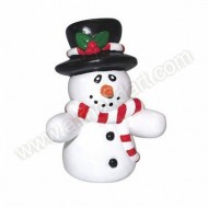 Plastic Snowman With Top Hat