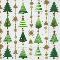 Fine Little Trees Christmas Napkins - 20pk / 33cm
