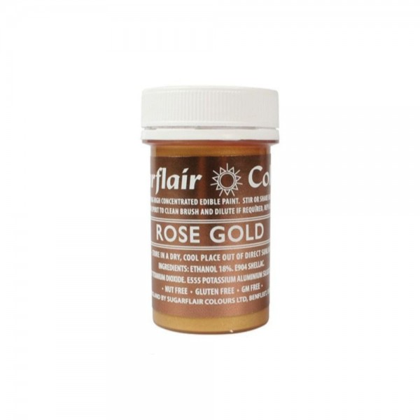 Sugarflair Colours Rose Gold Paint - 20g