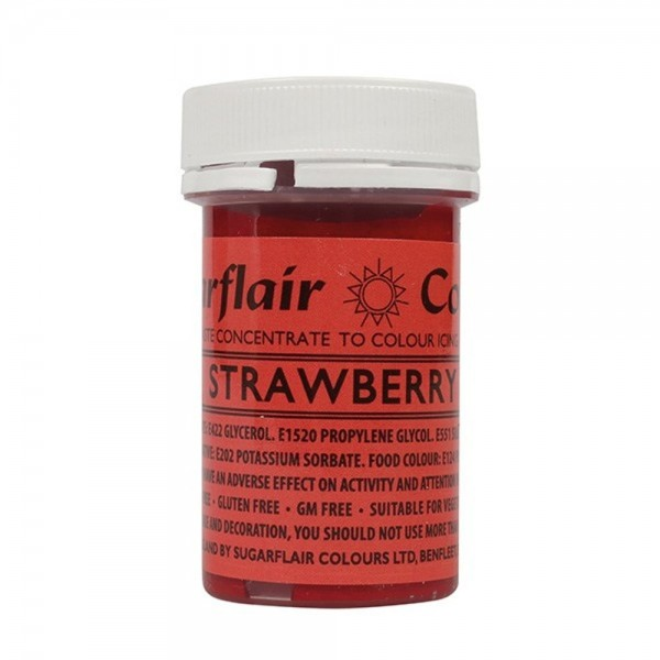 Sugarflair Strawberry Paste Colour - 25g