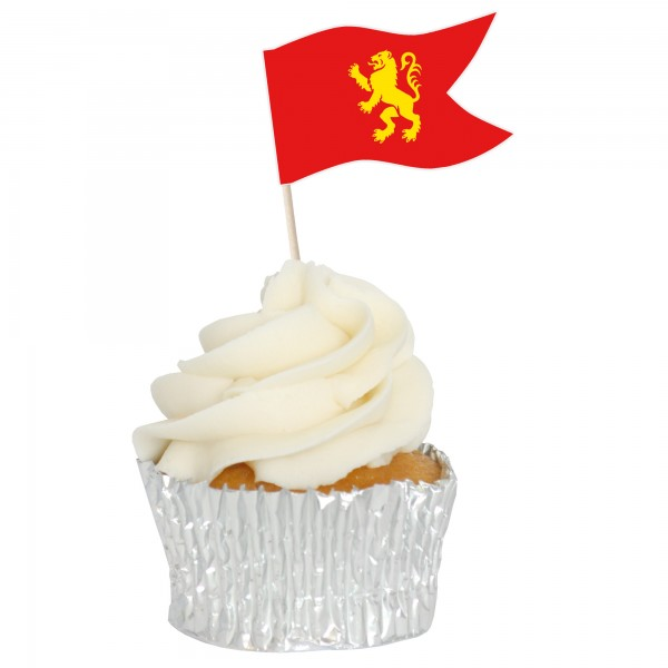 Medieval Sandwich Flag Cupcake Toppers - 12pk