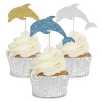 Dolphin Cupcake Toppers - 12pk
