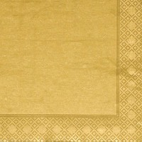 Gold Napkins - 3 ply - 20pk