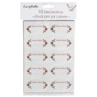 Oval Christmas Jar Labels - 10pk