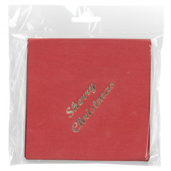 Sherry Christmas Cocktails, Cocktail Napkin 15/pk