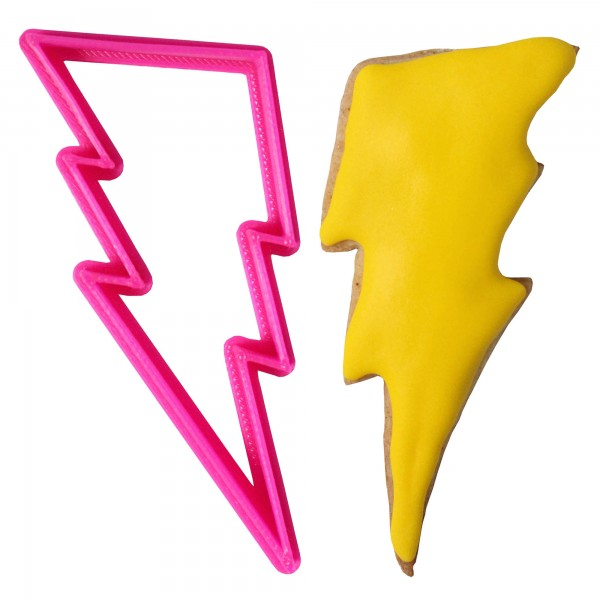 Crafty Cutters Plastic Lightning Bolt Cookie Cutter