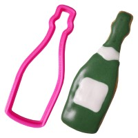 Crafty Cutters Plastic Champagne Bottle Cookie Cutter
