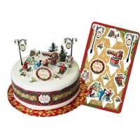 Victorian Christmas Cake Topper Kit