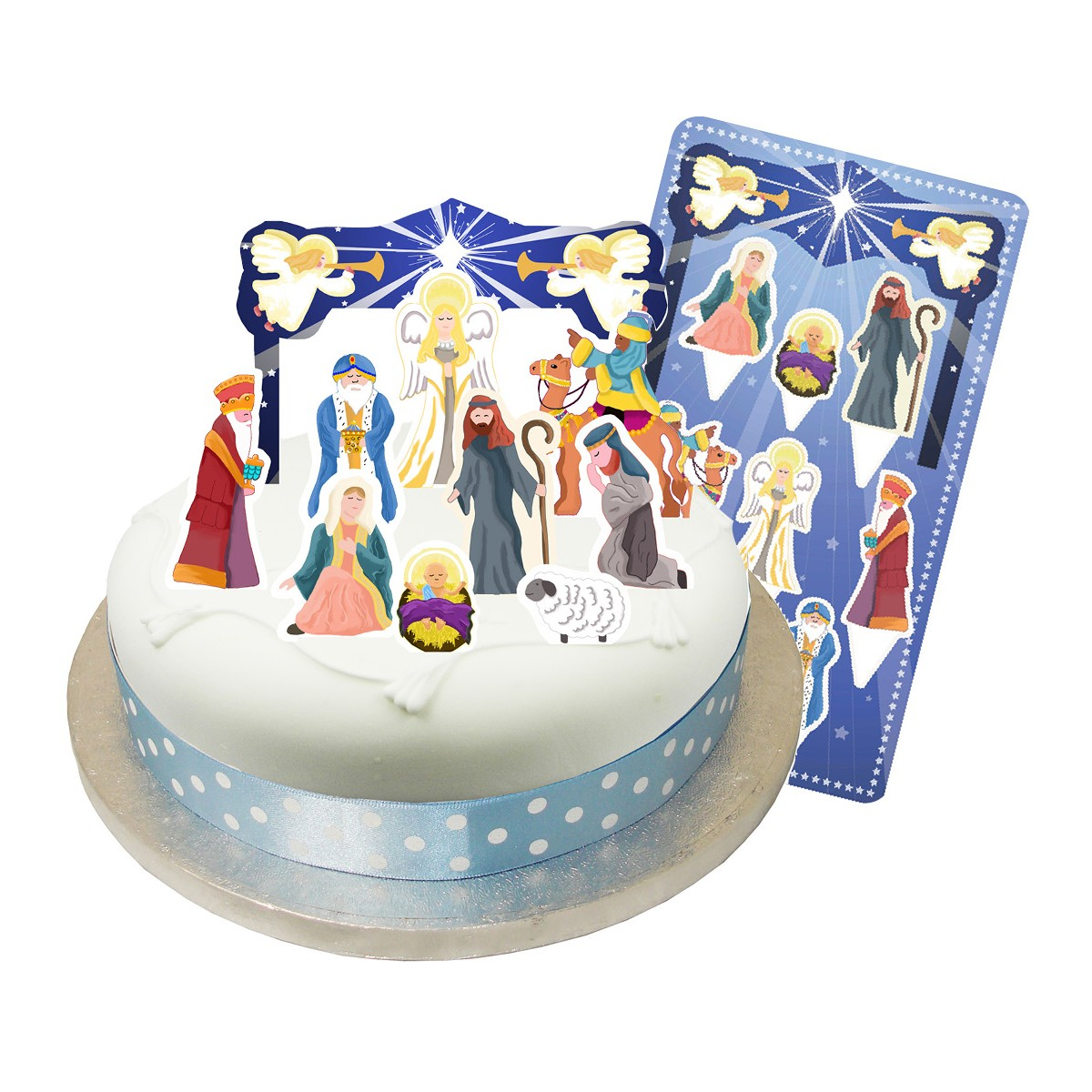 Buy Christmas Nativity Cake Topper Kit
