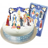 Christmas Nativity Cake Topper Kit