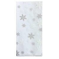 Snowflake Cello bags with Twist Ties Pk/20